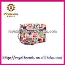 fashion flower designed small nylon cosmetic bags travel organizer for girls