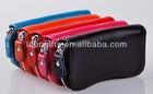 Ostart Black Portable 6 Clips PU Leather Car Keychain Key Holder Bag Case Wallet Cover
