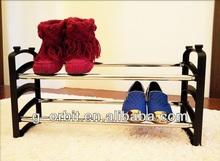 shoes display shelf, 2 tier expandable metal shoe rack