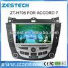 ZESTECH DVD Supplier 2 Din Touch screen car dvd for Honda Accord 7 car dvd with gps navigation system bluetooth tv ipod usb