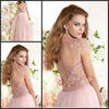 2014 New Style Sexy appliqued beading tulle wedding dress