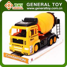 Giallo giocattoli camion dei pompieri, piccolo camion betoniera, betoniera camion giocattolo