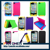 Stowaway Wallet Hard Shell Stand Combo Case Cover For Apple I Phone 4 4s 4g