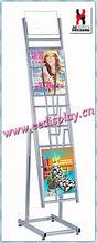juicy magazine display rack for hospital/revolving flooring magazine display stand for for promotion/retail/supermartket