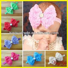 Hot Handmade Top Baby Headband with Big Bow and Kids Elastic Hairband Hair Accessories (KY84381)