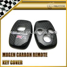 Custom made Special Design Carbon fiber two hole & three hole remote car key case key cover