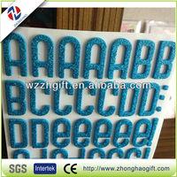Hot sale 3d deco glitter letter stickers, kid's EVA gel stickers
