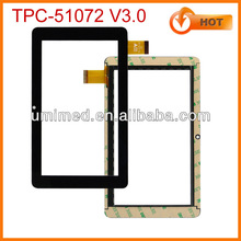 OEM Multi Touch Screen Panel For Yuandao 7 inch China Tablet touch screen digitizer replacement TPC-51072 V3.0