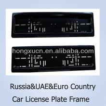 European&Russia&UAE Black Waterproof Remote Control Car License Number Plate Frame