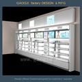 mostrador de diseño bonito para cosméticos mac para venta al por mayor en tienda