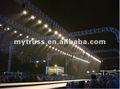 Line array desfile de moda madeira fardo do telhado