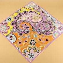 Ladies Scarf Silk Floral and Paisley Print Scarf