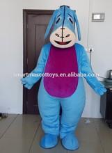 100% in kind shooting eeyore mascot adult soft plush eeyore mascot
