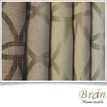 high densitiy poly jacquard ikat curtain fabric