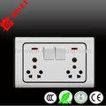 électriques switchs mur& prises double 3 en 1 prise avec 1 gang 1 wayeasy installation de sécurité de fonctionnement, longue durée de vie