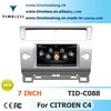 Car DVD for Citroen C4 with Phonebook iPod RDS BT 3G WIFI A8 Chipset CPU 1G MHZ RAM 512MB 4G Memory S100