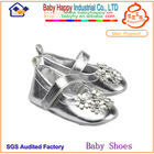 New cute baby girls wholesale silver dress shoes