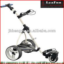 2015 NEW Electric Power Golf Trolleys , Fold Motor Golf Caddy With New Handle .Soft Wheels .LCD DIgital Handle . 36 Holes Batter