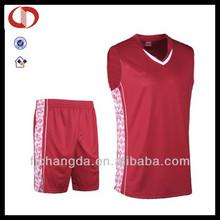 Custom hot sale cool red ncaa basketball jersey uniform designs