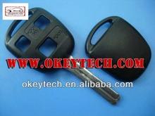 okeytech toyota yaris chiave telecomando per la toyota 3 pulsanti chiave toy48 lama chiave per toyota yaris