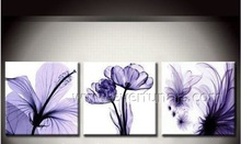 Wholesale Handmade Purple Flower Oil Painting Abstract Canvas