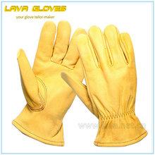 Premium Cowhide Grain Leather work Driver Glove
