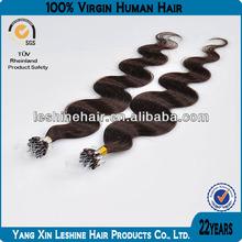 100% natural wholesale Hot Selling 8A,7A Grade dark color micro ring tip hair
