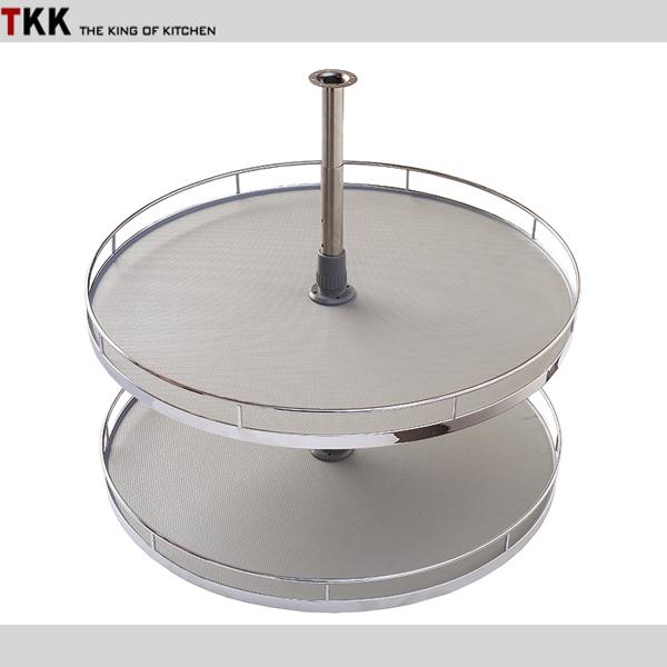 360 degree wooden revolving basket for kitchen cabinet corner
