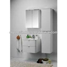 Hot five start hotel 22 inch MDF wall hung modern bathroom vanity furniture set including mirror
