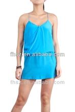 New arrival fashion ladis casual blue dress new model girl dress