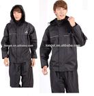 pvc polyester pongee raincoat suit, pvc rain suit, fashion rainwear