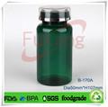 Vert bouteille en plastique 170cc médicaments sexe pour les hommes/femelle, fabricant alibaba