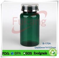 170cc Green Plastic Sex Drugs Bottle for Men / Female Alibaba Manufacturer