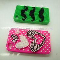 Wholesale mobile 3D animal silicone phone case for iphone/samsung/others