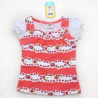 AJIDUO modern designs t shirt baby clothes wholesale price cute girl's t-shirt child garment