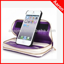 For Apple iPhone 5 5G / 5s Case Women's PU Leather Wallet with Wrist Strap