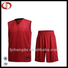 100% Polyester custom fashionable cheap basketball uniform sets