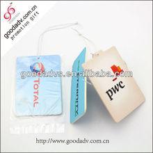Car hanging air freshener accessories square paper car air freshener