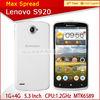 "Hot DUAL SIM MTK 6589 5.3"" QUAD CORE 8MP lenovo s920 smart phone"