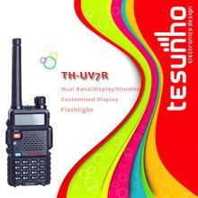 popular many people choosed TESUNHO TH-UV7R IP54 waterproof durable walkie talkie two way communication device