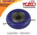 top slae porta de vidro de nylon rolo superior direto da fábrica roda