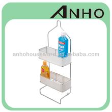 Bathroom iron wire shower caddy ,PVC net , color option