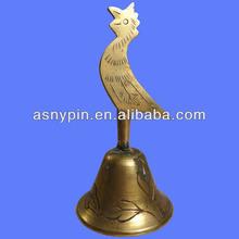 Brass Character Dinner Bell, Outdoor metal dinner bell manufacturer,souvenir metal table bell