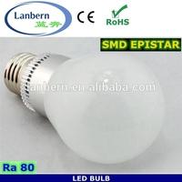 Hot sale 2014 design LED Light China alibaba Epistar 360 degree Aluminium 7W LED Bulb 220V 80Ra 2years warranty CE&ROHS