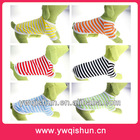 Ebay Hot Sell Small Puppy Clothes Summer Stripe T- shirt Dog Cat Cloth Pet Apparel