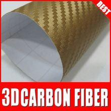 new style TS carbon fiber vinyl for car wrap carbon fibre stickers color changing pvc vinyl film golden
