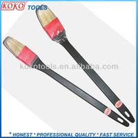 white bristles plastic long handle angle paint brush