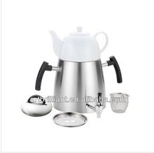 5-pieces Turkish samovar with porcelain tea pot