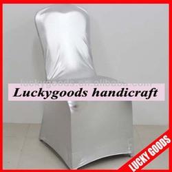 elegant wedding decoration silver chair cover