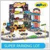 2014 Popular Child Toys 3th Floor Kids Parking Garage Toy W/3 Die Cast Cars